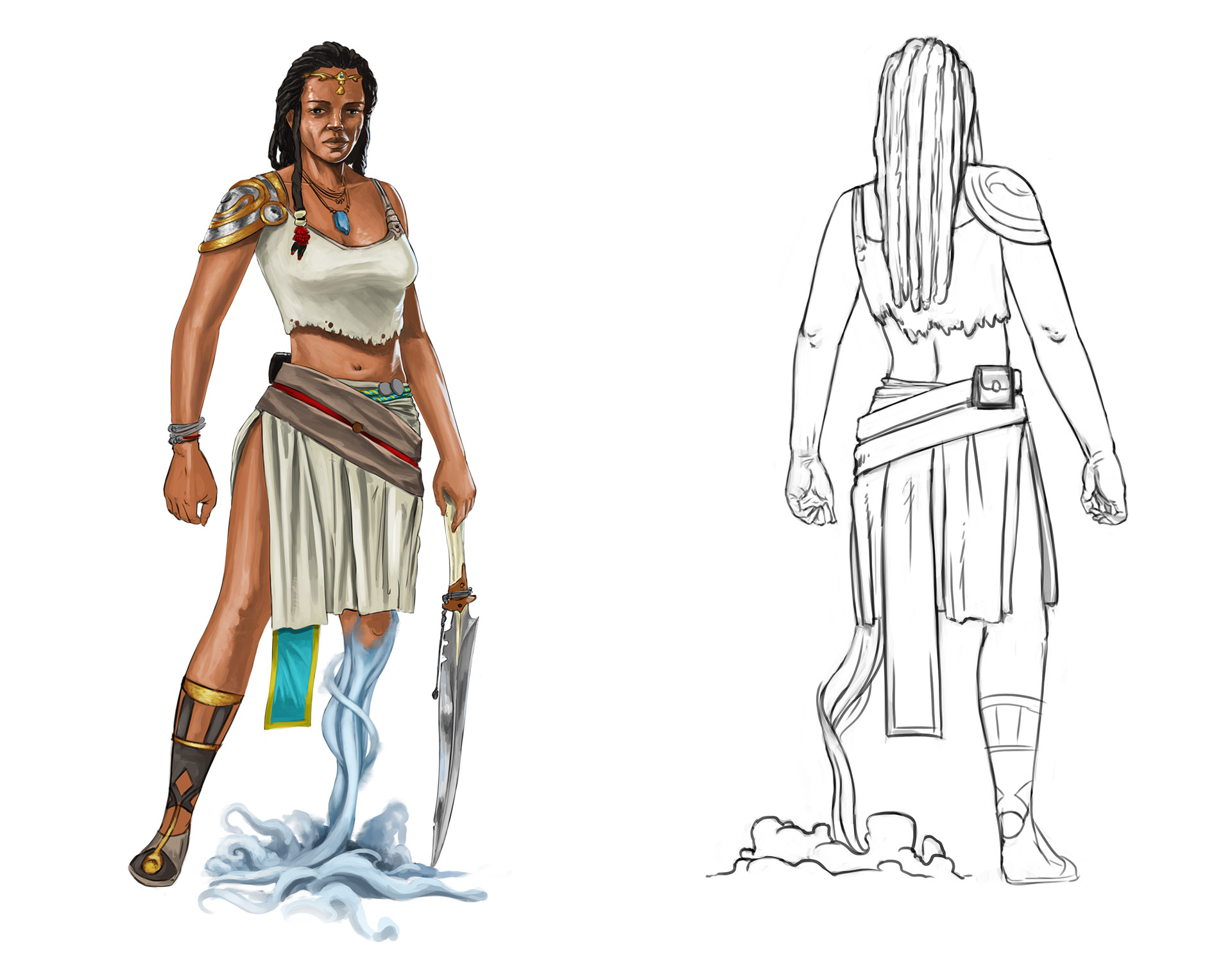 Ch5 - Personnage féminin - concept Wip